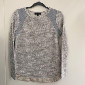 Sanctuary// Tweed Paneled Sweater Top